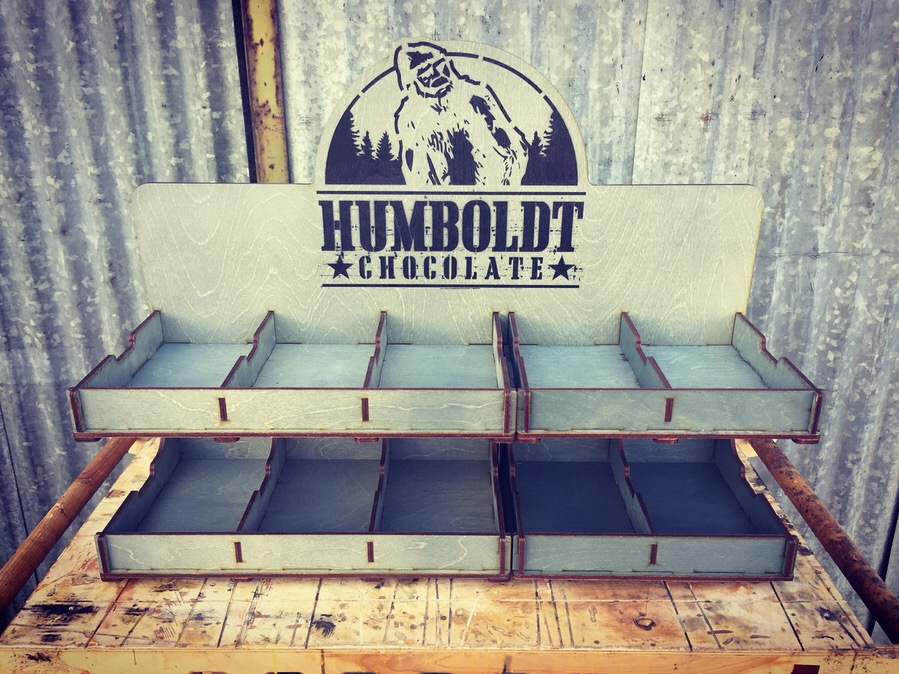 WoodLab Designs Humboldt Chocolate Bed Bath & Beyond 10 Bar Display Grey Stained Baltic Birch