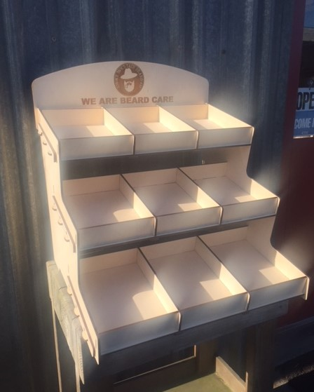 WoodLab Designs Baltic Birch Hook Lock Smoky Mountain Beard Product Display