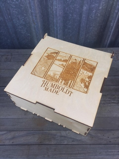 WoodLab Designs Humboldt Made Custom Laser Etched Promotional Materials Box Case