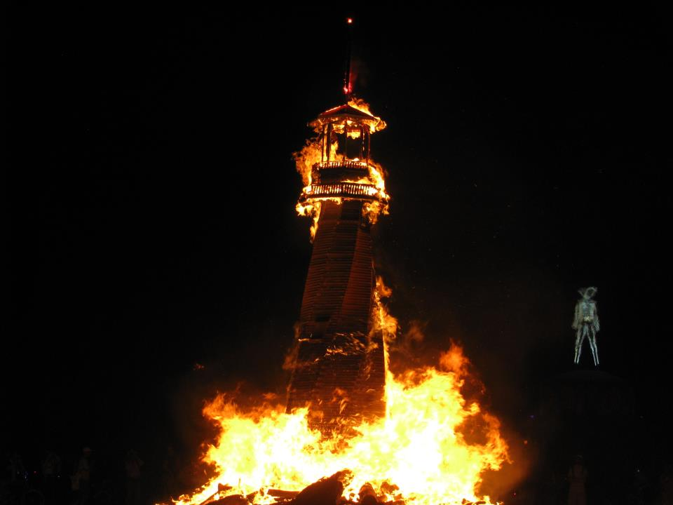 Lighthouse Sculpture Burning Man