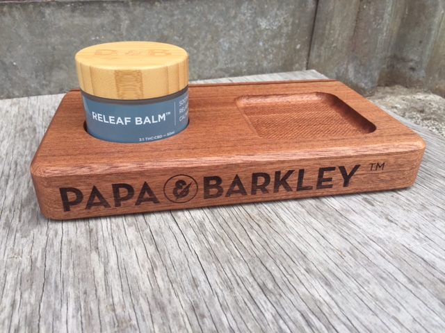 WoodLab Designs Papa & Barkley African Mahogany Cannabis Product Prototype Display