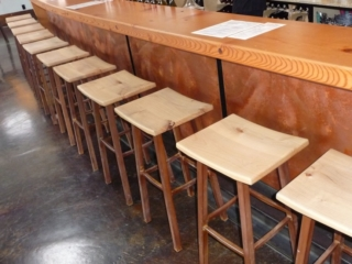 WoodLab Designs Wine Bar custom bar top & Seating
