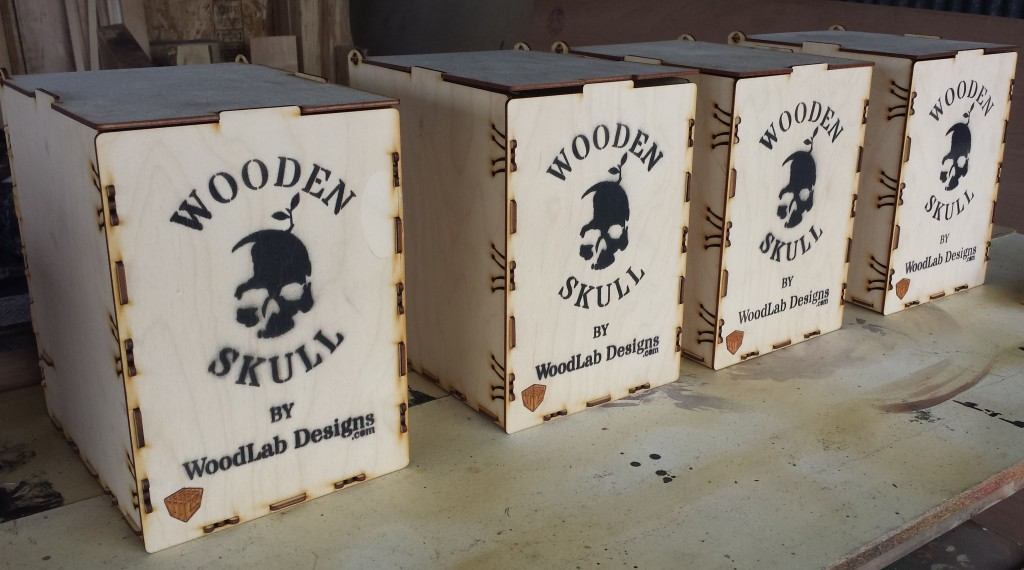 Baltic birch Wood Skull boxes