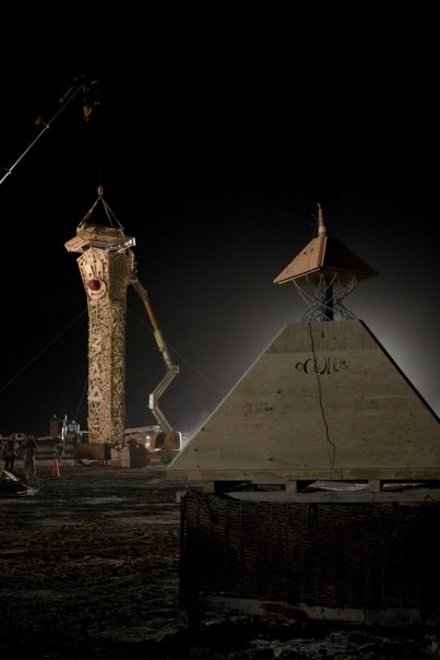 WoodLab Designs Earlyman Burning Man Fire Sculpture