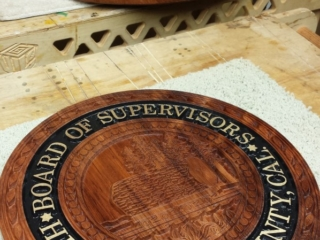 WoodLab Designs Board of Supervisors Seal