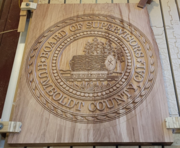 WoodLab Designs Humboldt County Supervisors Emblem