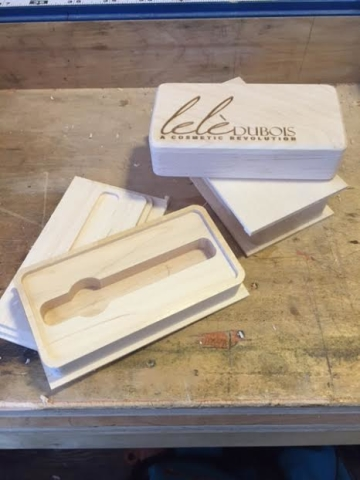 Baltic Birch Lip Balm box prototype