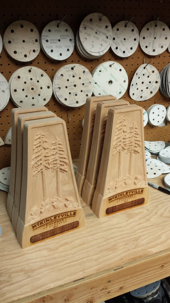 Chamber of Commerce Wooden Member Awards