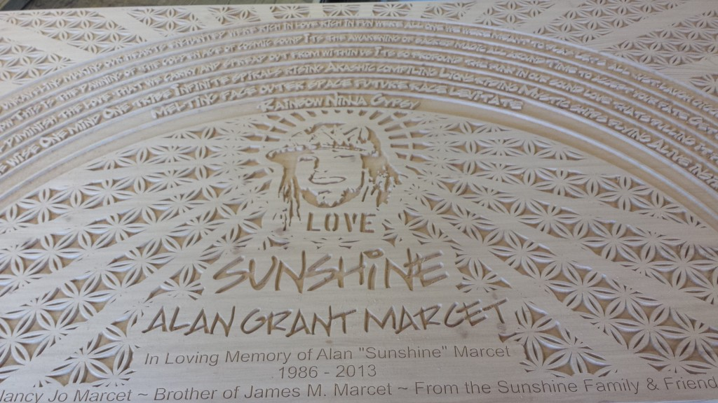 Memorial Laser Etched Picnic Bench