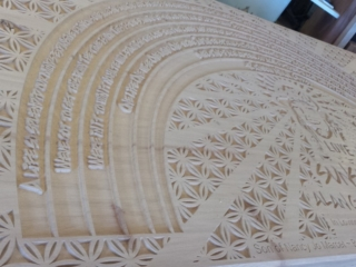 Laser Etched Memorial Table