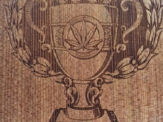 WoodLab Designs Laser Etched Redwood Emerald Cup Cannabis Awards