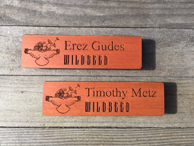 WoodLab Designs Redwood Magnetic Name Tags for Wildseed