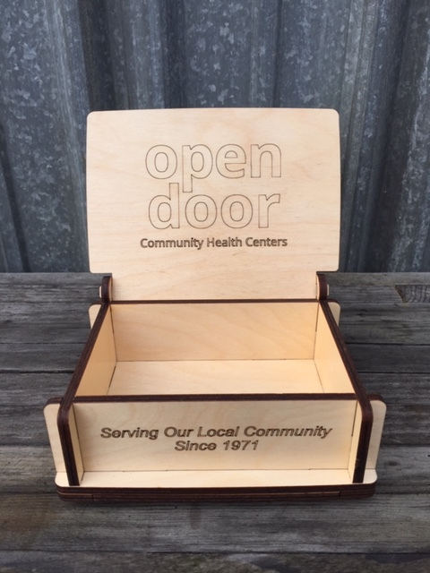 WoodLab Designs Custom Branded Baltic Birch Employee Recognition Box