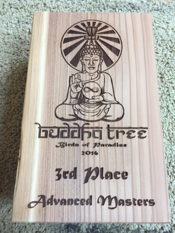 WoodLab Designs Buddha Tree Frisbee Golf Trophy