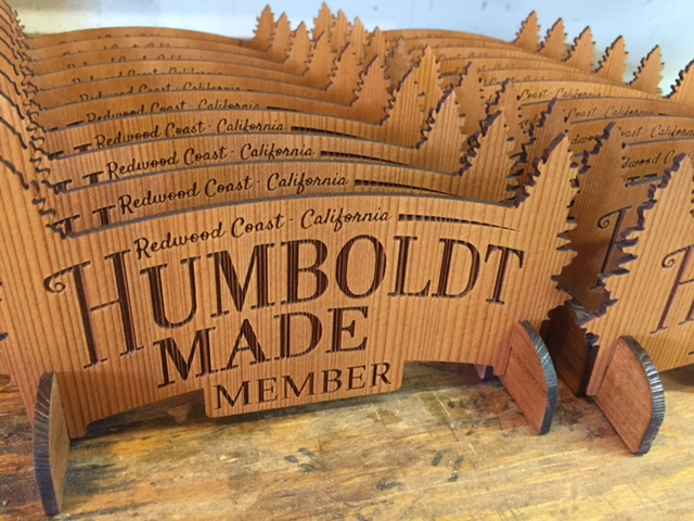 WoodLab Designs Laser Etched Humboldt Made Member Plaques