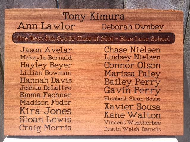 Teacher & Student Recognition Plaque