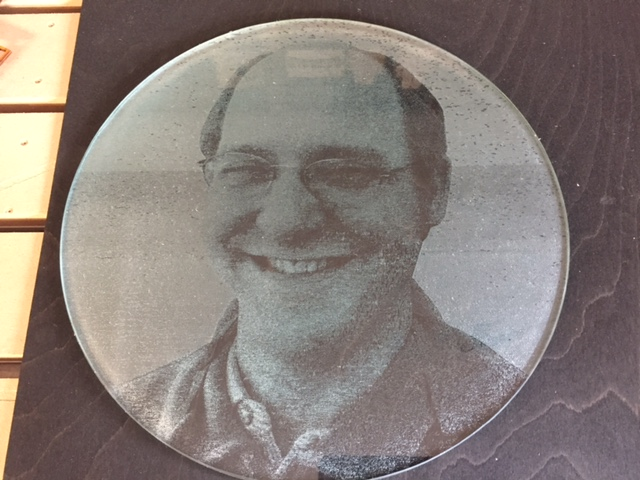 WoodLab Designs Memorial Photo Laser Etching on Glass
