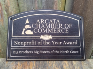WoodLab Designs Arcata Chamber of Commerce Laser Etched Baltic Birch Award