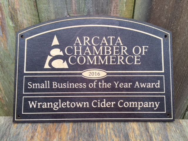 WoodLab Designs Baltic Birch Black Stained Laser Etched Small Business Award