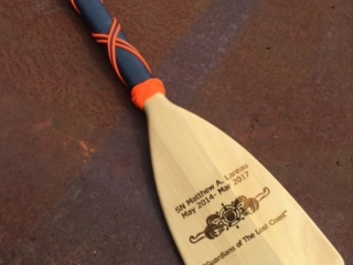 WoodLab Designs Coast Guard Service Recognition Laser Etched Paddle
