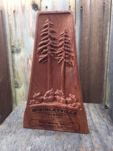 WoodLab Designs Sapele McKinleyville Chamber of Commerce Award