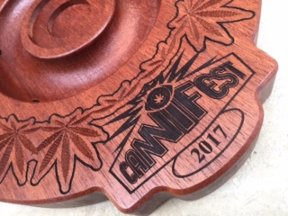 WoodLab Designs Sapele Wood Cannifest Best of Show Trophy Component