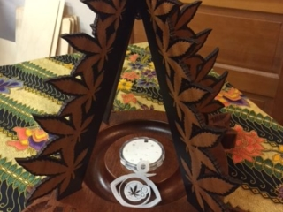 WoodLab Designs Sapele Wood Cannifest Award with Color-change Light feature