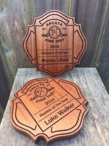 WoodLab Designs Sapele Arcata Fire District Awards