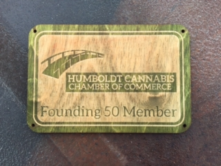 WoodLab Designs Humboldt Cannabis Chamber of Commerce Founder Plaque