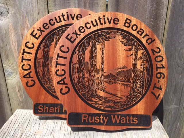 WoodLab Designs Sapele Laser Etched Wood Recognition Plaques