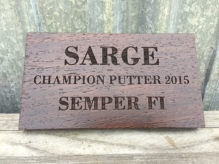 WoodLab Designs Laser Etched Wenge Personal Recognition Plaque