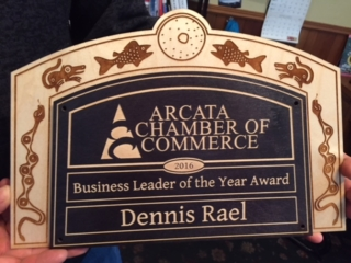 WoodLab Designs Baltic Birch Plywood Laser Etched Business Leader of the Year Award