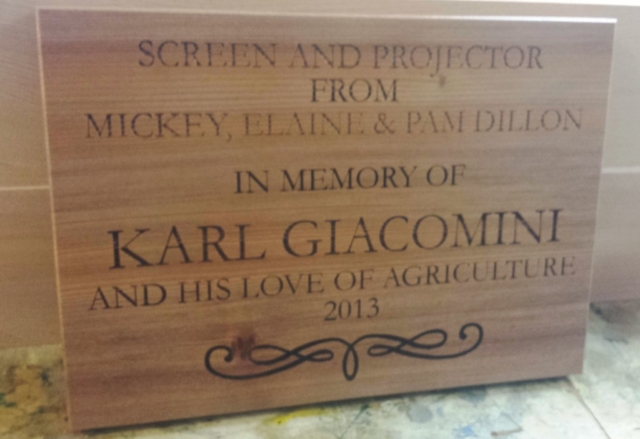 Laser Etched Memorial Plaque