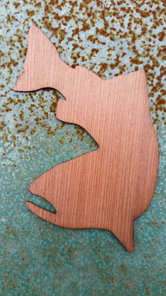 Salmon Wooden Sticker