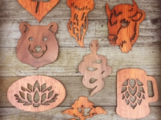 WoodLab Designs New Wooden Sticker Designs in Walnut and Sapele Wood Veneer