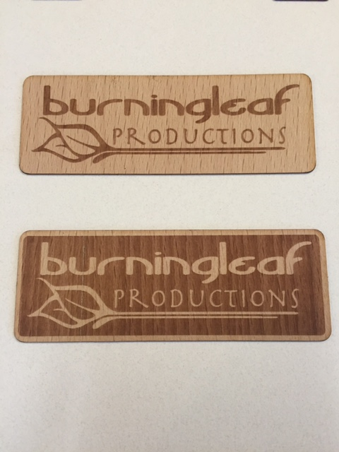 Burning Leaf Laser Etched Logo Comparison