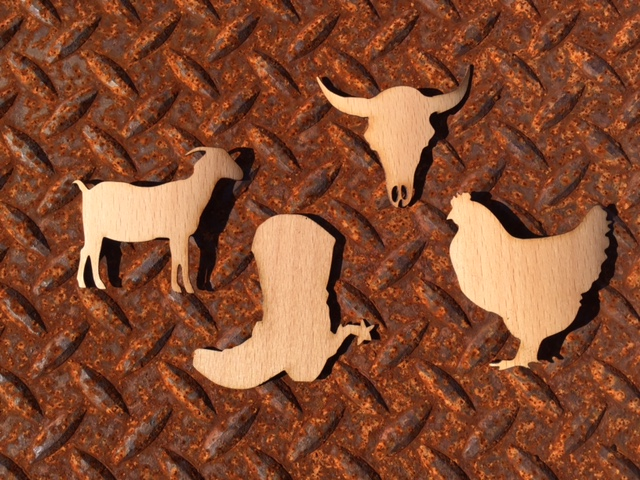 WoodLab Designs Farm and Ranch Wood Stickers
