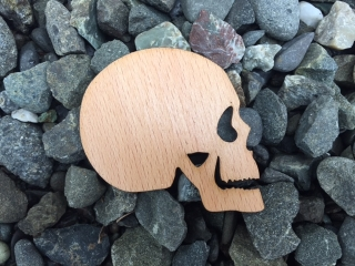 Skull Wooden Sticker