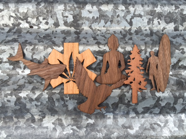 WoodLab Designs Wooden Stickers