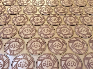 Mt Bachelor Wooden Stickers by WoodLab Designs