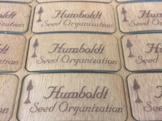 WoodLab Designs Humboldt Seed Organization Branded Wooden Sticker