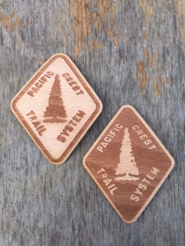WoodLab Designs Pacific Crest Trail Original Trail Marker Wooden Stickers