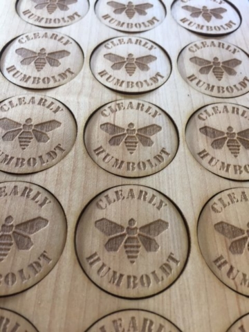 WoodLab Designs Clearly Humboldt Extract Jar Maple Wooden Lid Labels