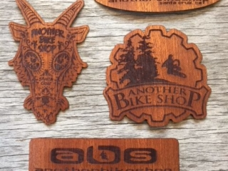 WoodLab Designs Santa Cruz Another Bike Shop custom Wood Stickers