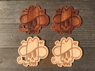 WoodLab Designs Honkey Tonk Hillbilly Sapele Genuine Wooden Stickers