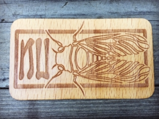 WoodLab Designs Custom Chicago Artist Designed Laser Etched & Cut Wooden Sticker made from Beech
