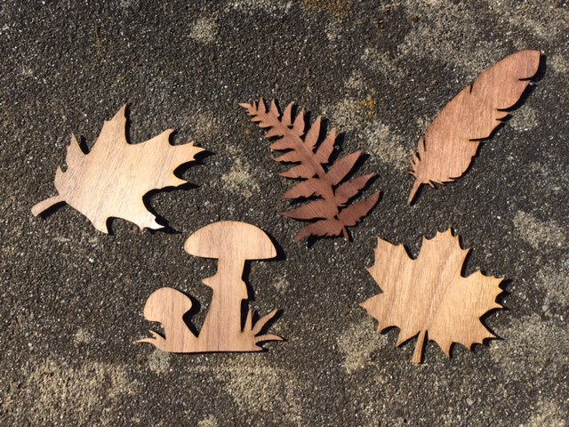 WoodLab Designs Nature Silhouette Wood Stickers
