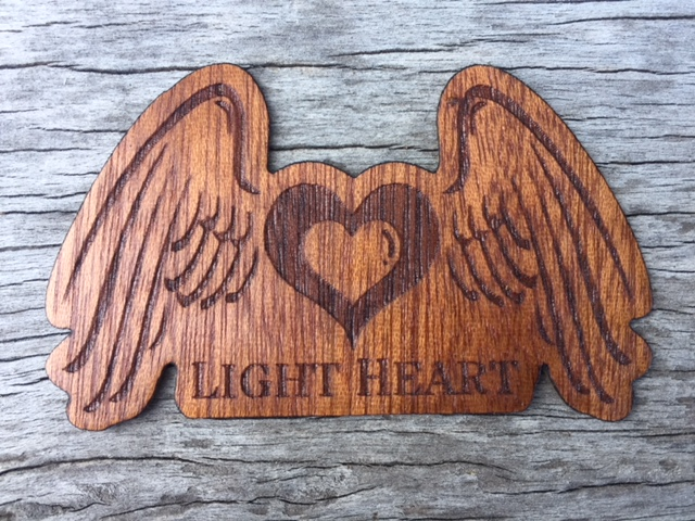 WoodLab Designs Light Heart Collective Promotional Custom Sapele Wooden Sticker