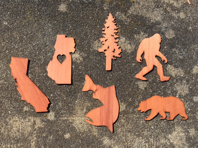 WoodLab Designs Redwood Forest Wooden Stickers