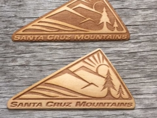 WoodLab Designs Santa Cruz Mountain Genuine Wooden Stickers